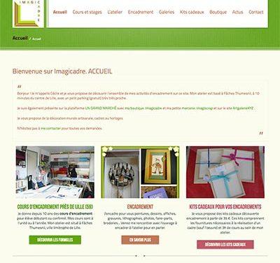 Site WordPress pour une professionnelle de l'encadrement près de Lille (59)