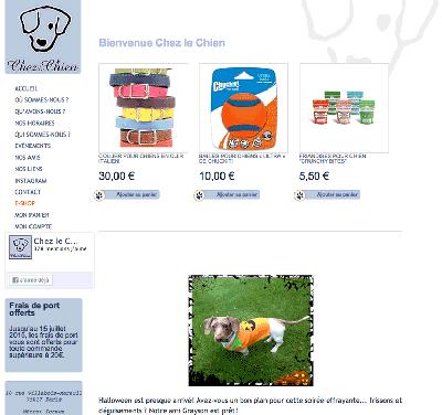 Boutique en ligne Chez le Chien