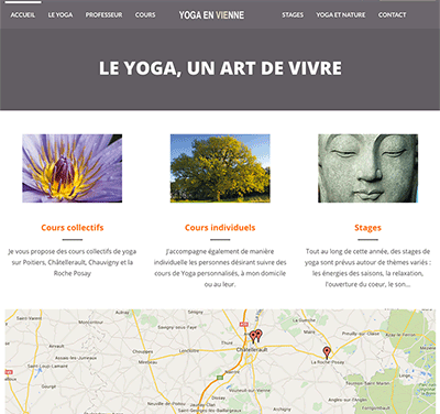 Site Internet WordPress Yoga en Vienne