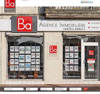 Site internet de l'Agence B&A à Poitiers