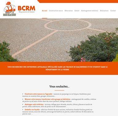 Création du site internet de la maçonnerie BCRM à Fleuré (86)