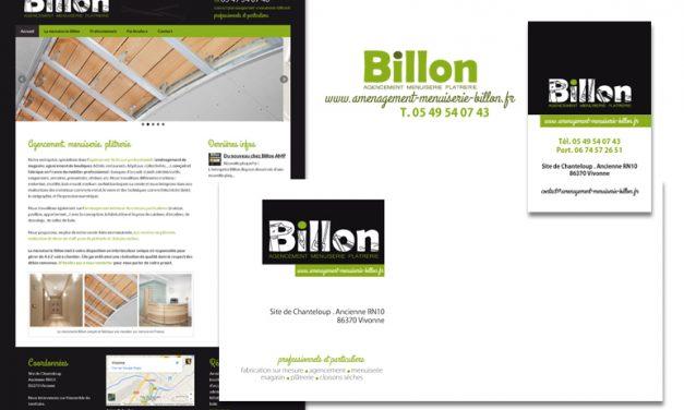 Outils de communication de la menuiserie Billon