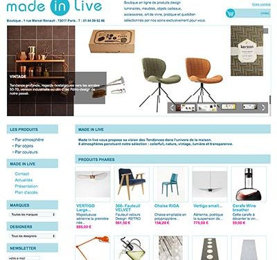 Boutique en ligne Made in Live
