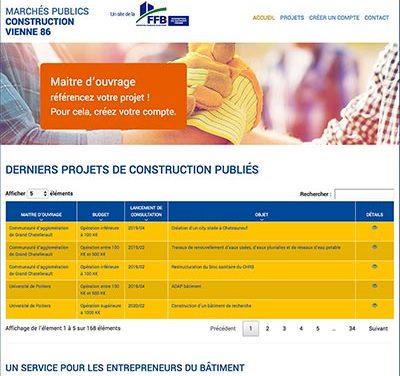 Création du site internet Marchés publics construction Vienne 86