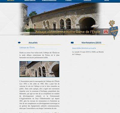 Mise à jour du site internet de l'Abbaye de l'étoile