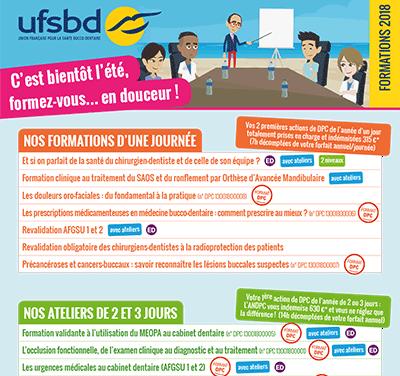 Publicité pour l'UFSBD (Union Française pour la Santé Bucco-Dentaire)