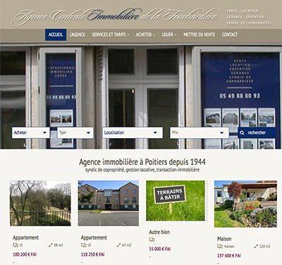 Refonte du site internet de l'Agence Centrale de la Fouchardière à Poitiers