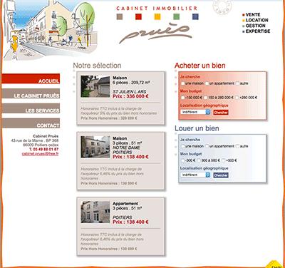 Création du site internet du Cabinet immobilier Pruès