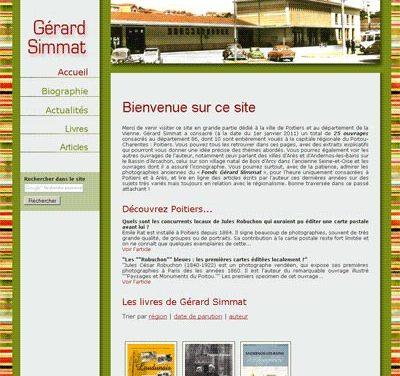 Site internet sur mesure de Gérard Simmat