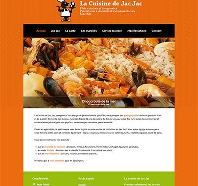 La cuisine de Jac Jac : un site internet WordPress
