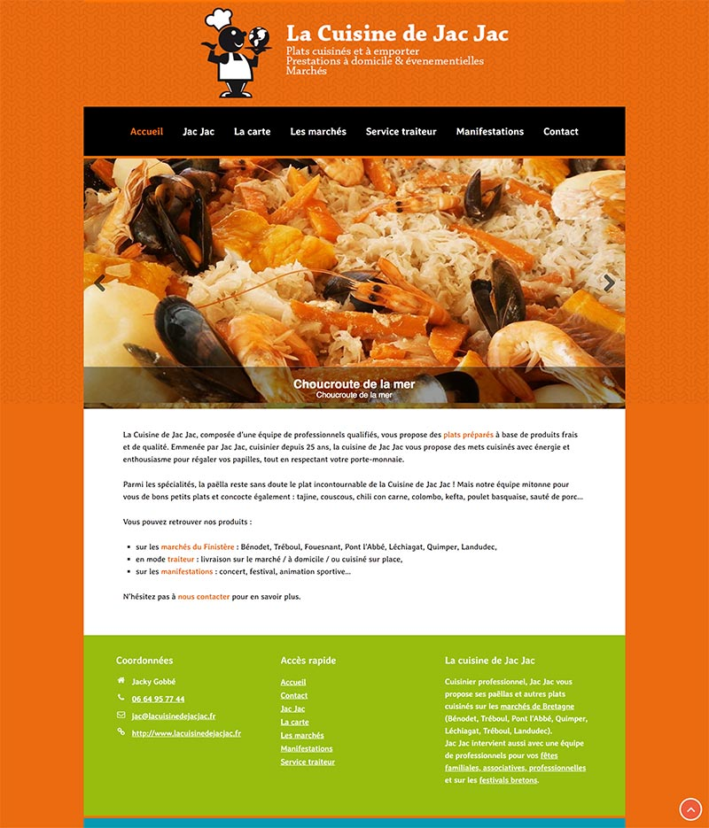 Site internet WordPress La cuisine de Jac Jac