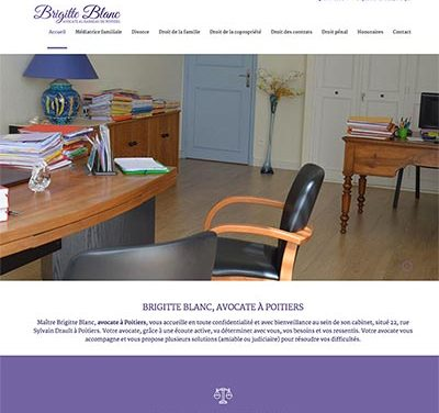 Site internet WordPress de Maitre Brigitte Blanc