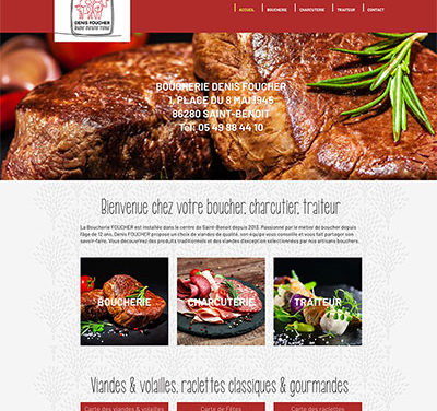 Site internet WordPress de la boucherie Foucher