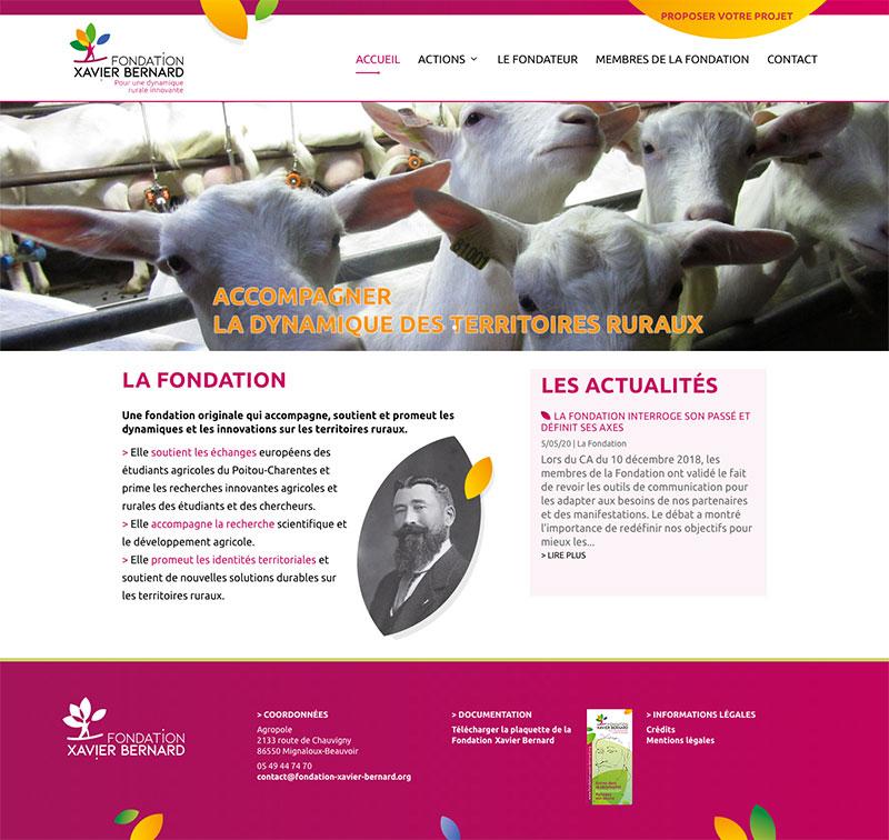 Site internet de la Fondation Xavier Bernard